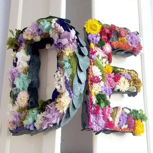 abecedario con flores