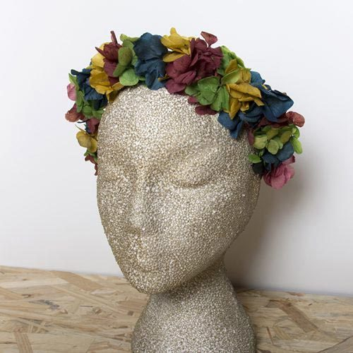 diadema de flores rainbow