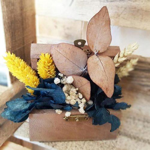 mini baul de flores regalo original bodas