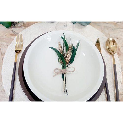 ramillete de navidad decoración mesa