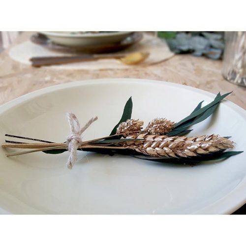 ramillete para mesa de navidad flores preservadas