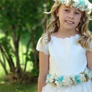 cinturon de flores preservadas