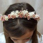 Corona de flores infantil