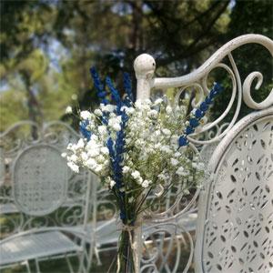 decoración de bancos para bodas