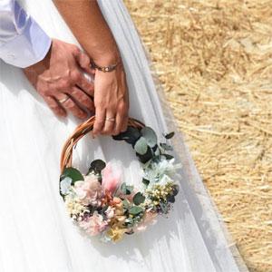 hoop bouquet de novia