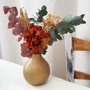 regalo jarron con flores preservadas