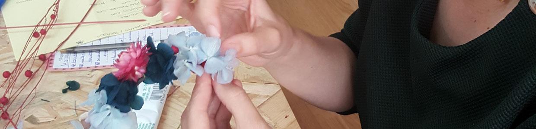 taller de flores preservadas