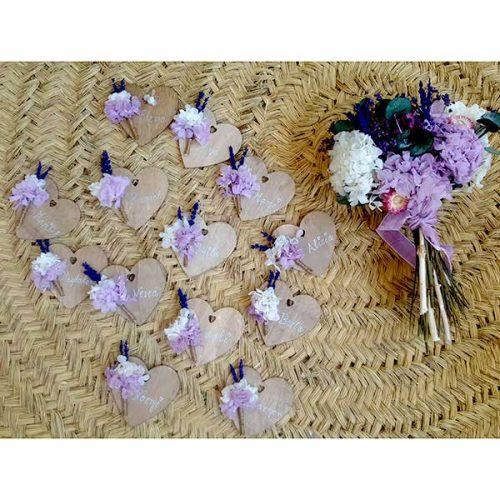 regalos boda personalizados imán con flores