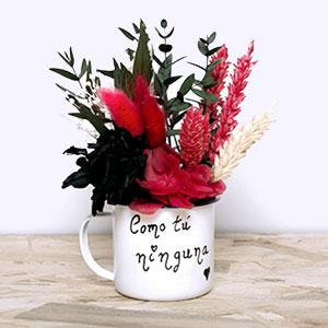 taza personalizadas con flores