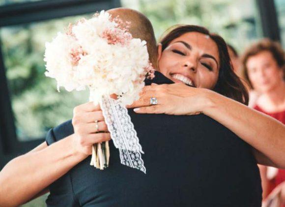 La boda y el ramo de novia de Esther