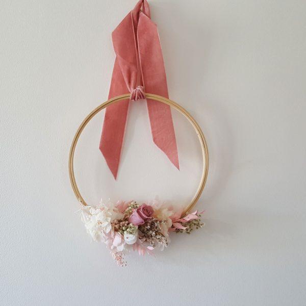 bastidor con flores regalo original