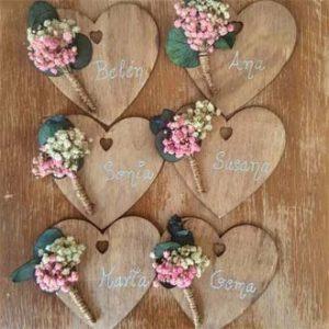 corazones con imán replica ramo de flores