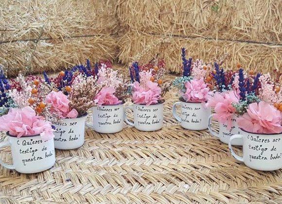 Regalos originales para bodas con flores preservadas. Últimas creaciones