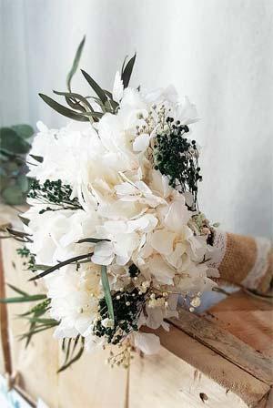 ramo de novia con flores preservadas tono pastel