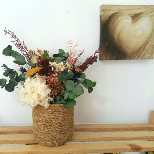 centro rakkaus de flores preservadas