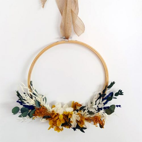 flores preservadas en bastidor