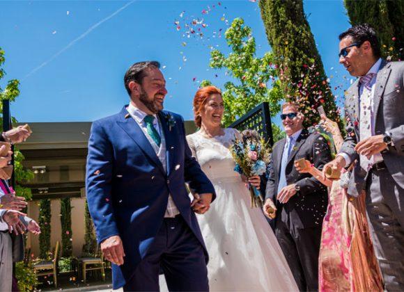 La boda de Miriam un día lleno de color