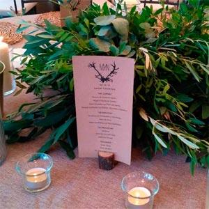 centro de mesa flores preservadas