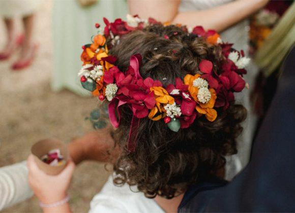 Coronas de flores para niñas