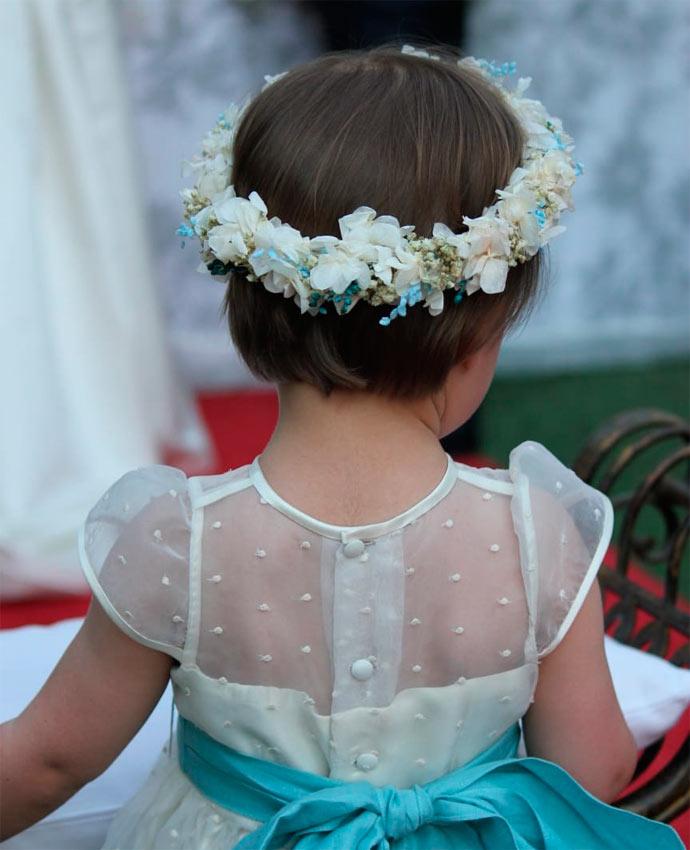 corona para niñas en boda