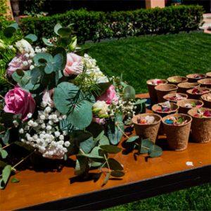 pétalos de flores complementos bodas