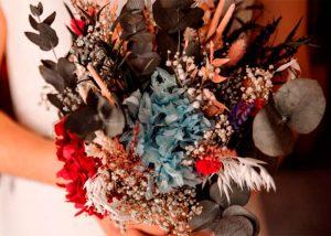 ramo de novia silvestre de flores preservadas