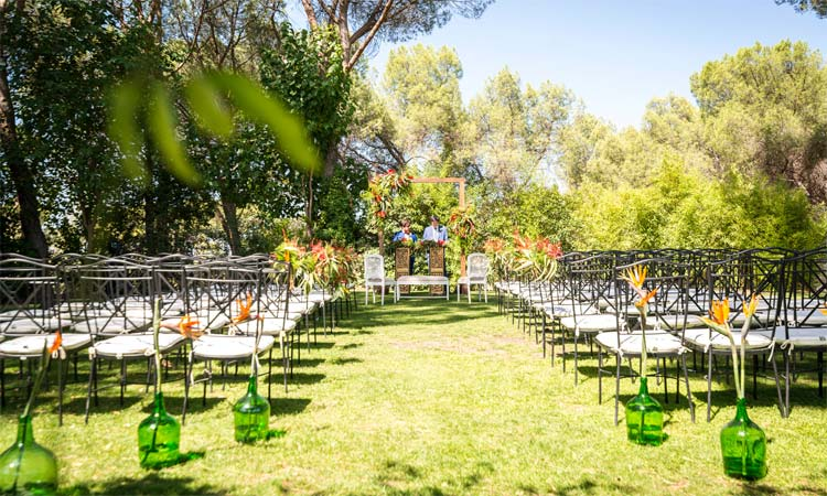 decoración de boda en jardines