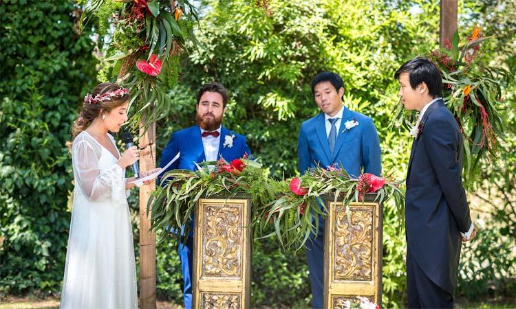 ceremonia de boda al aire libre