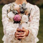 detalle de ramo de novia preservada sesion fotos