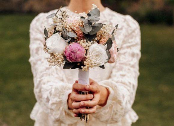Sesión de fotos con nuestros ramos de novia