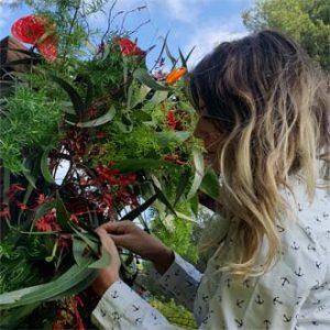 montaje boda al aire libre flores preservadas