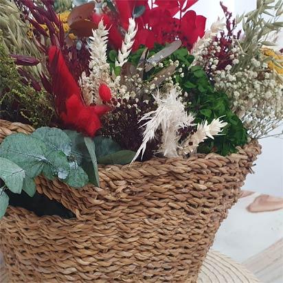 detalle de flores preservadas ohana