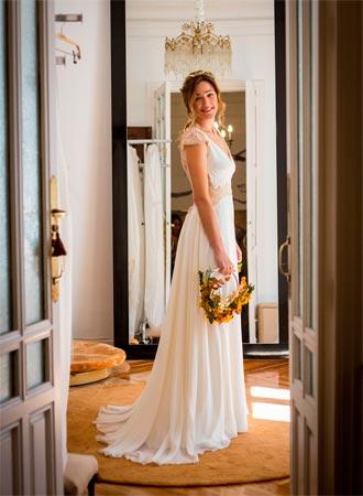 ramo de novia con estilo sencillo
