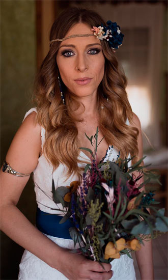novia 2019 con flores