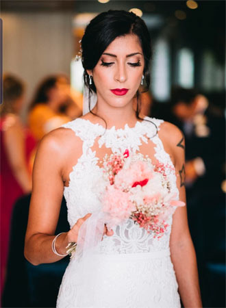 posado de novia en boda