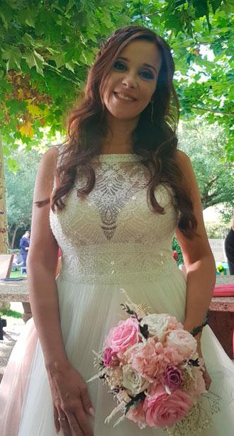 ramo de novia en tonos rosas y blancos