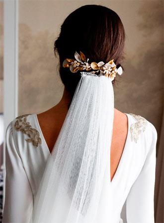 tocado de porcelana para novias