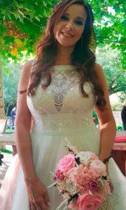 ramo de novia en tonos blancos y rosas