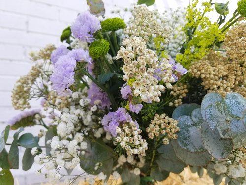 ramo bari, detalle de flores