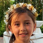 diadema de flores para comuniones y bodas