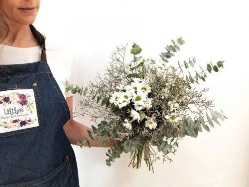 ramo verona con margaritas blancas