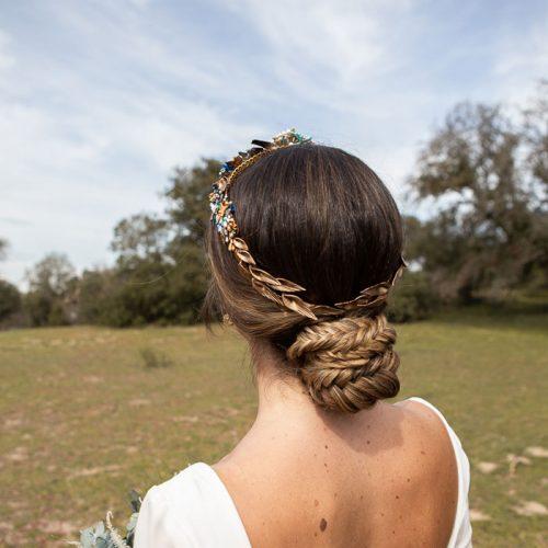 corona de novia de porcelana fría