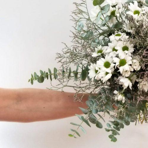 detalle de flores naturales