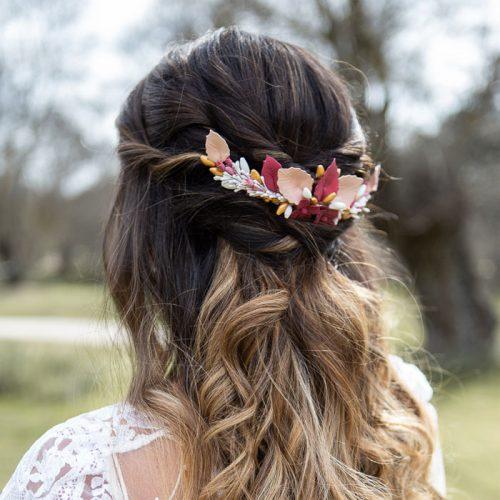 tocado de flores para novia