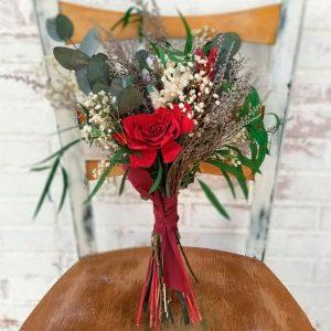 ramo de novia con flores preservadas coimbra