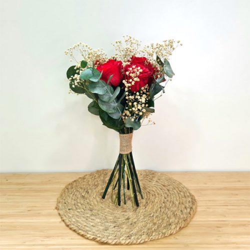 ramo de rosas preservadas