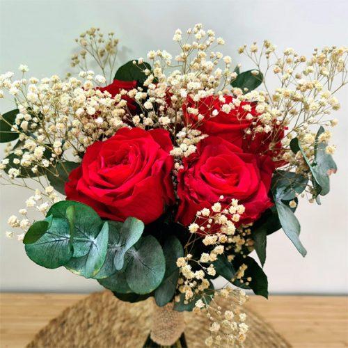 ramo de rosas preservado