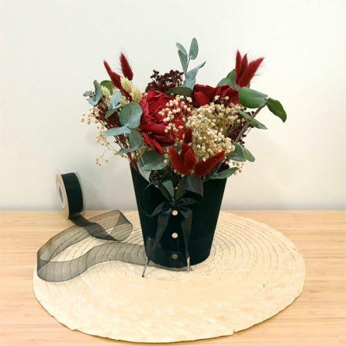 centro elegance de flores preservadas