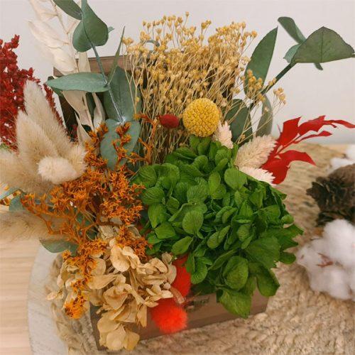 detalle centro de flores para navidad
