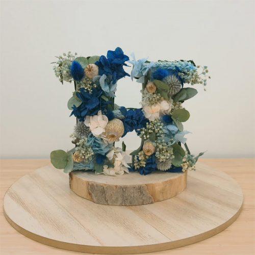 iniciales con flores